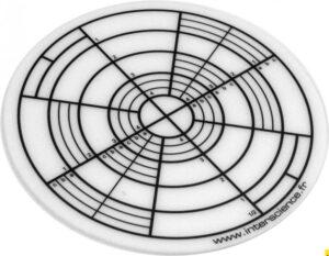 Адаптер для чашек Петри 90 мм и 150 мм деление по секторам