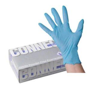 Перчатки из нитрила. CONNECT BLUE.