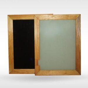 Доска разборная черное/белое стекло